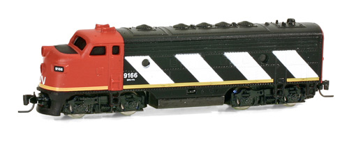 Z Scale - Micro-Trains - 980 01 190 - Locomotive, Diesel, EMD F7 - Canadian National - 9166