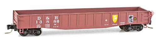 Z Scale - Micro-Trains - 522 00 220 - Gondola, 50 Foot, Steel - Delaware & Hudson - 13886