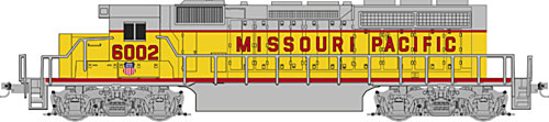 Z Scale - Micro-Trains - 970 01 191 - Locomotive, Diesel, EMD SD40-2 - Missouri Pacific - 6002