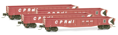 Z Scale - Micro-Trains - 994 00 048 - Gondola, 50 Foot, Steel - Canadian Pacific - 4-Pack