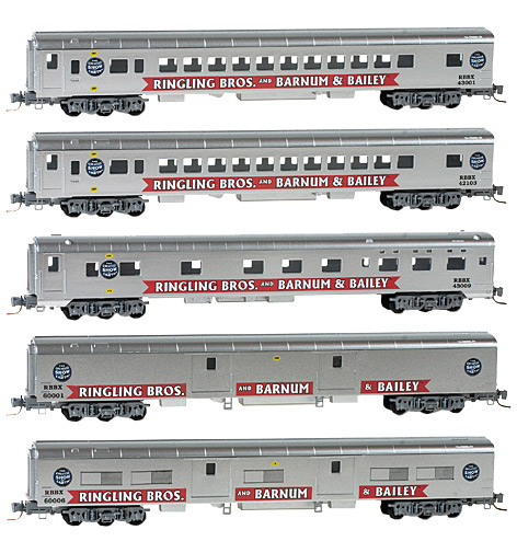 Z Scale - Micro-Trains - 994 01 100 - Mixed Freight Consist, North America, Transition Era - Ringling Bros. and Barnum & Bailey - 4-Pack