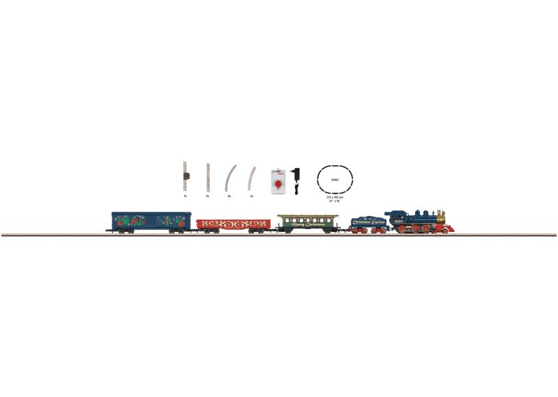 Z Scale - Märklin - 81846 - Freight Train, Steam, Europe, Epoch I - Merry Christmas