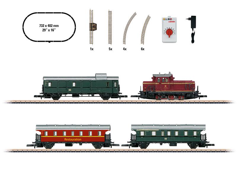 Z Scale - Märklin - 81871 - Passenger Train, Diesel, Europe, Epoch IV - Deutsche Reichsbahn