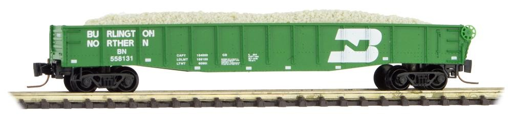 Z Scale - Micro-Trains - 522 00 281 - Gondola, 50 Foot, Steel - Burlington Northern - 558131