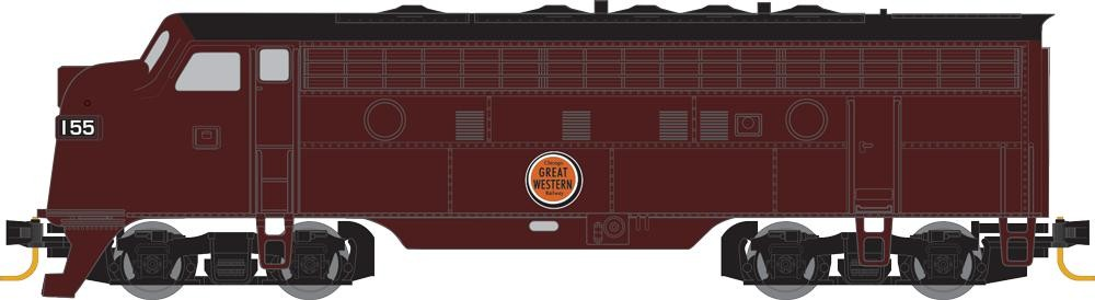 Z Scale - Micro-Trains - 980 01 442 - Locomotive, Diesel, EMD F7 - Great Western - 155