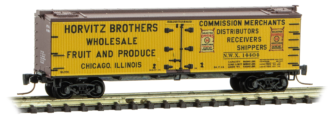 Z Scale - Micro-Trains - 518 00 810 - Reefer, Ice, Wood - North Western Refrigerator - 14404