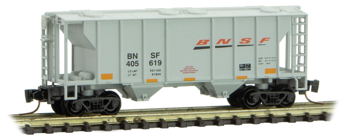 Z Scale - Micro-Trains - 531 00 302 - Covered Hopper, 2-Bay, PS2 - Burlington Northern Santa Fe - 405619