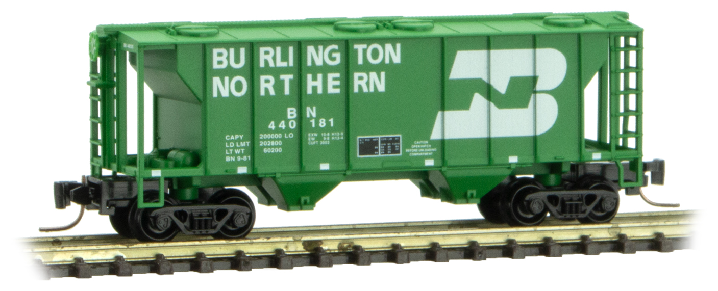 Z Scale - Micro-Trains - 531 00 312 - Covered Hopper, 2-Bay, PS2 - Burlington Northern - 440193