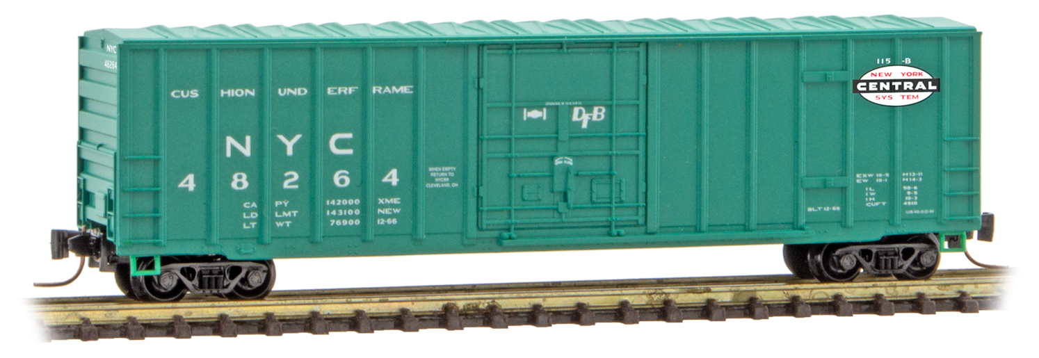 Z Scale - Micro-Trains - 511 00 282 - Boxcar, 50 Foot, Steel - New York Central - 48264