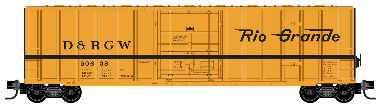 Z Scale - Micro-Trains - 511 00 291 - Boxcar, 50 Foot, Steel - Rio Grande - 50638