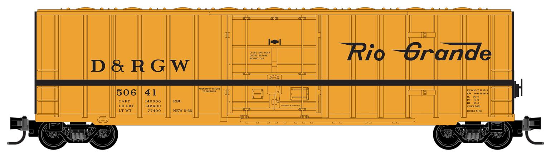 Z Scale - Micro-Trains - 511 00 292 - Boxcar, 50 Foot, Steel - Rio Grande - 50641