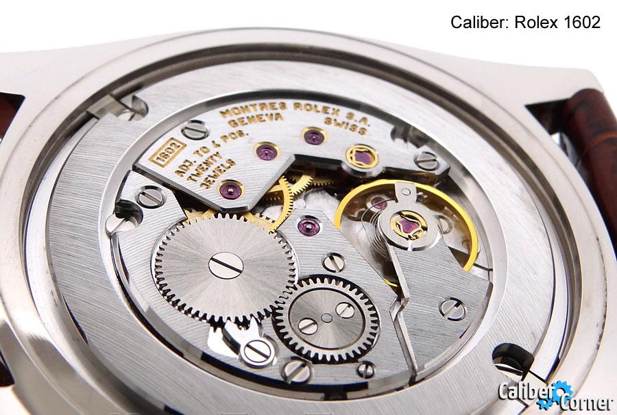 Watch Movement - Manual - Rolex 1602