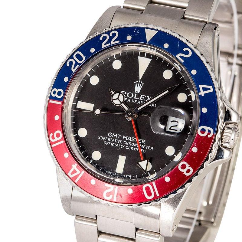 Rolex - 16750 - GMT-Master - Pepsi - Mens