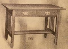 Furniture - Limbert - 189 - Table, Two Drawers