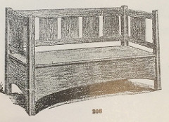 Furniture - L&JG Stickley - 208 - Hall Seat, Drawer under Seat