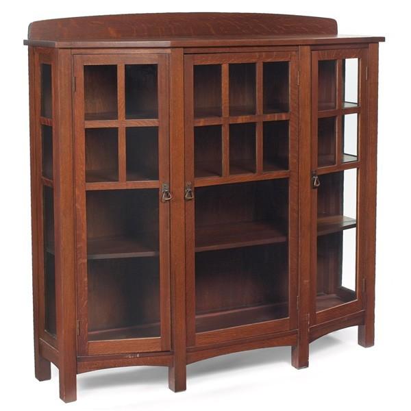 Furniture - Limbert - 427 - China Cabinet, Adjustable Shelves, Copper Trimmings