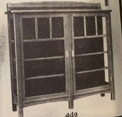 Furniture - Limbert - 449 - China Cabinet, Adjustable Shelves, Copper Trimmings