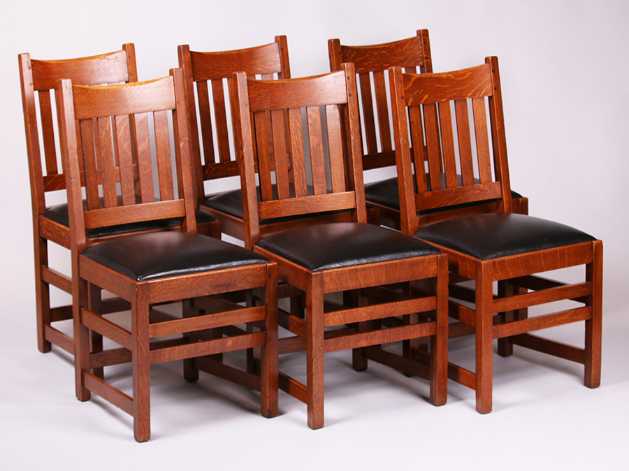 Furniture - Limbert - 851 - Dining Chair, Morocco Leather Pad Seat