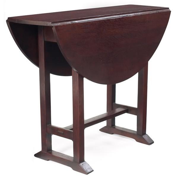 Furniture - Gustav Stickley - 672 - Round Drop-Leaf Table