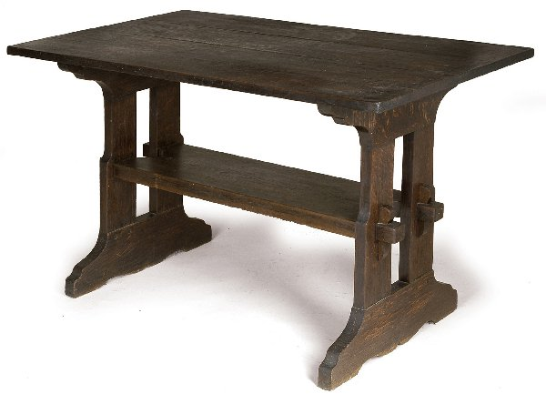 Furniture - Gustav Stickley - 637 - Library Table, Wood Top