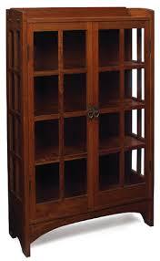Furniture - Gustav Stickley - 815 - China Cabinet, 3 Stationary Shelves