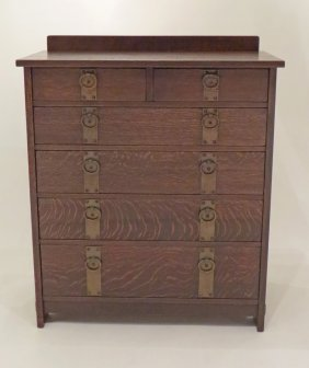 Furniture - Gustav Stickley - 906 - Chest of Drawers