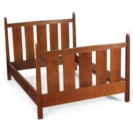 """Furniture - Gustav Stickley - 923 - Bed, Made in 3 Sizes: 36"""", 42"""" and 54"""" (Full)"""