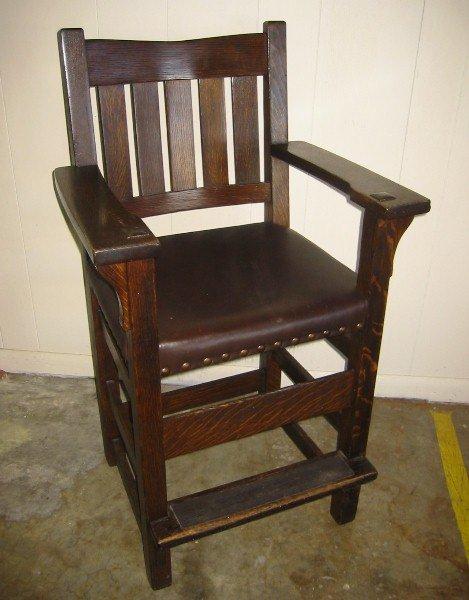 Furniture - Gustav Stickley - 312 1/2-B - Billiard Chair
