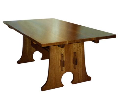 Furniture - L&JG Stickley - 599 - Trestle Table