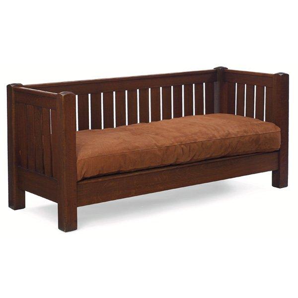 Furniture - L&JG Stickley - 281 - Settle, Even Arm