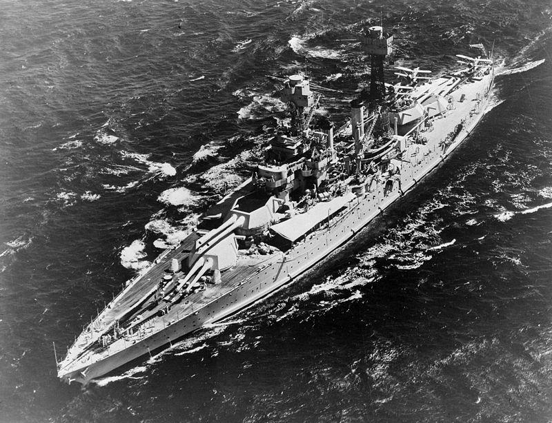 Warship - USS Maryland (BB-46) - Battleship