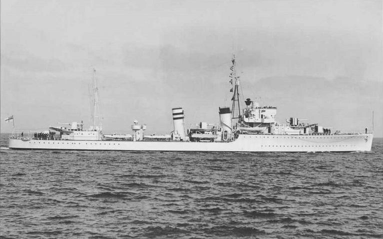 Warship - HMS Hardy (H87) - Destroyer
