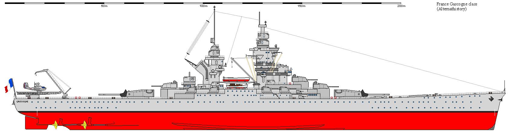Warship - Gascogne - Battleship