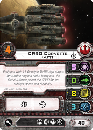 X-Wing Miniatures - CR-90 Aft