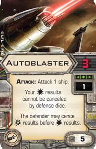 X-Wing Miniatures - Autoblaster
