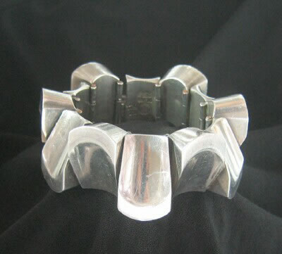 Mexican Silver - Antonio Pineda - Thumbprint Bracelet