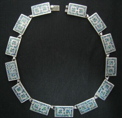 Mexican Silver - Margot de Taxco - Square Kaleidoscope Necklace