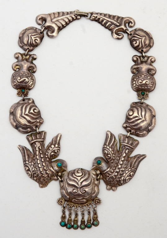 Mexican Silver - Matilde Poulat - Turquoise and Dove Necklace