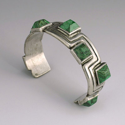 Mexican Silver - Hector Aguilar - Meandering Lines Bracelet