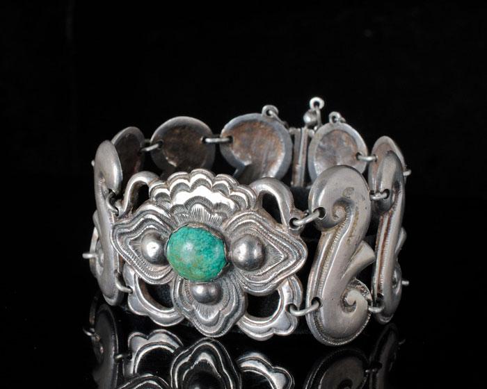 Mexican Silver - Matilde Poulat - Petals and Swirls Bracelet