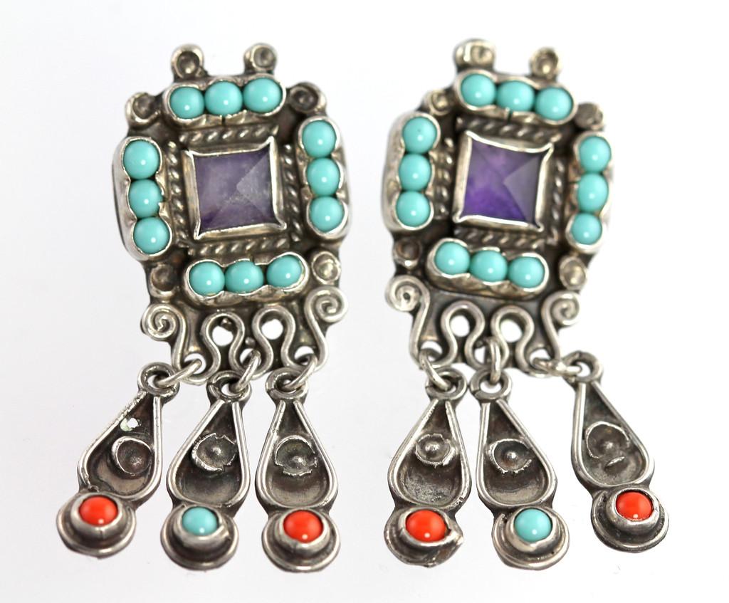 Mexican Silver - Matilde Poulat - Square Tassel Earrings