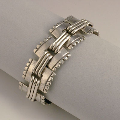 Mexican Silver - Hector Aguilar - Stamps Bracelet
