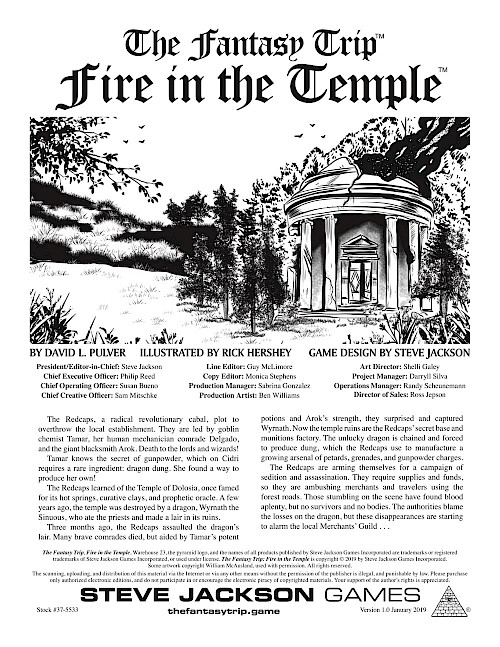 The Fantasy Trip - Fire in the Temple