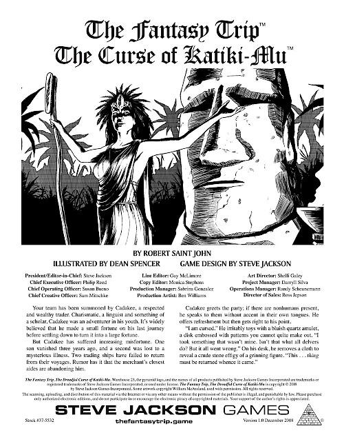 The Fantasy Trip - The Curse of Katiki-Mu