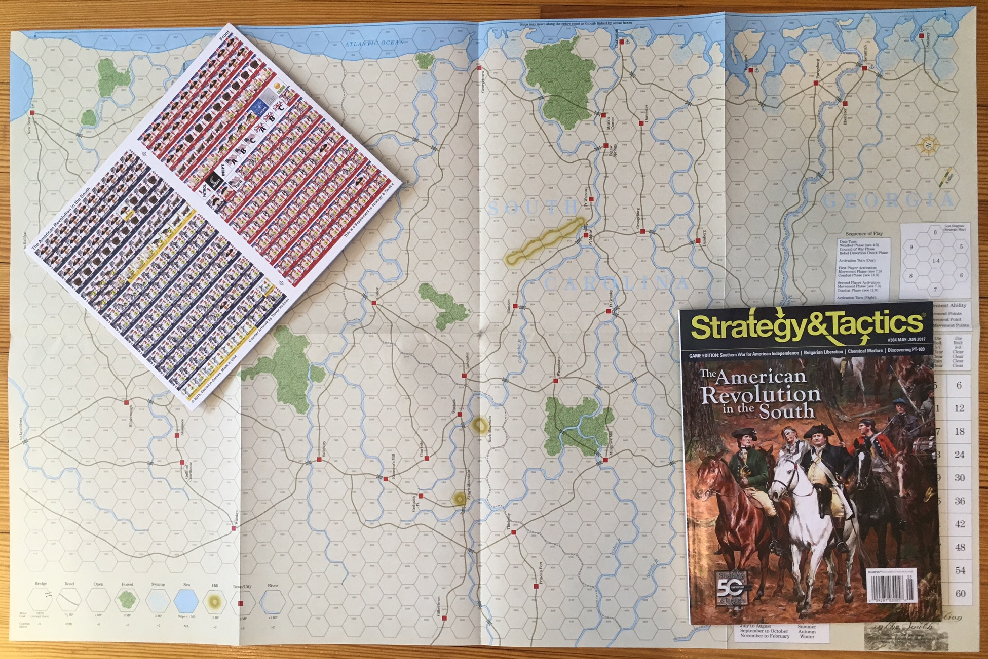 Strategy & Tactics - Game - 304 - The American Revolution in the South - The Battles for North & South Carolina, 1776-81