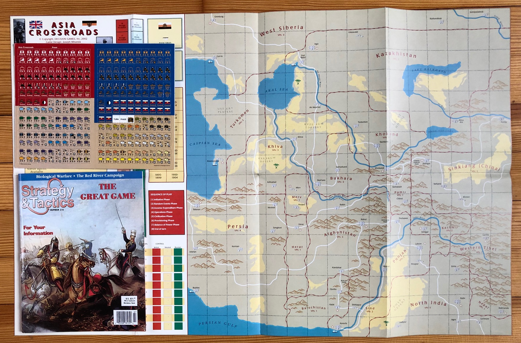 Strategy & Tactics - Game - 216 - The Great Game - Asia Crossroads